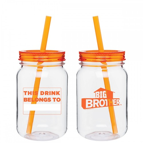 Big Brother Mason Jar Name Tumbler Orange Image