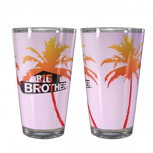 Big Brother Palm Pint Glass Image