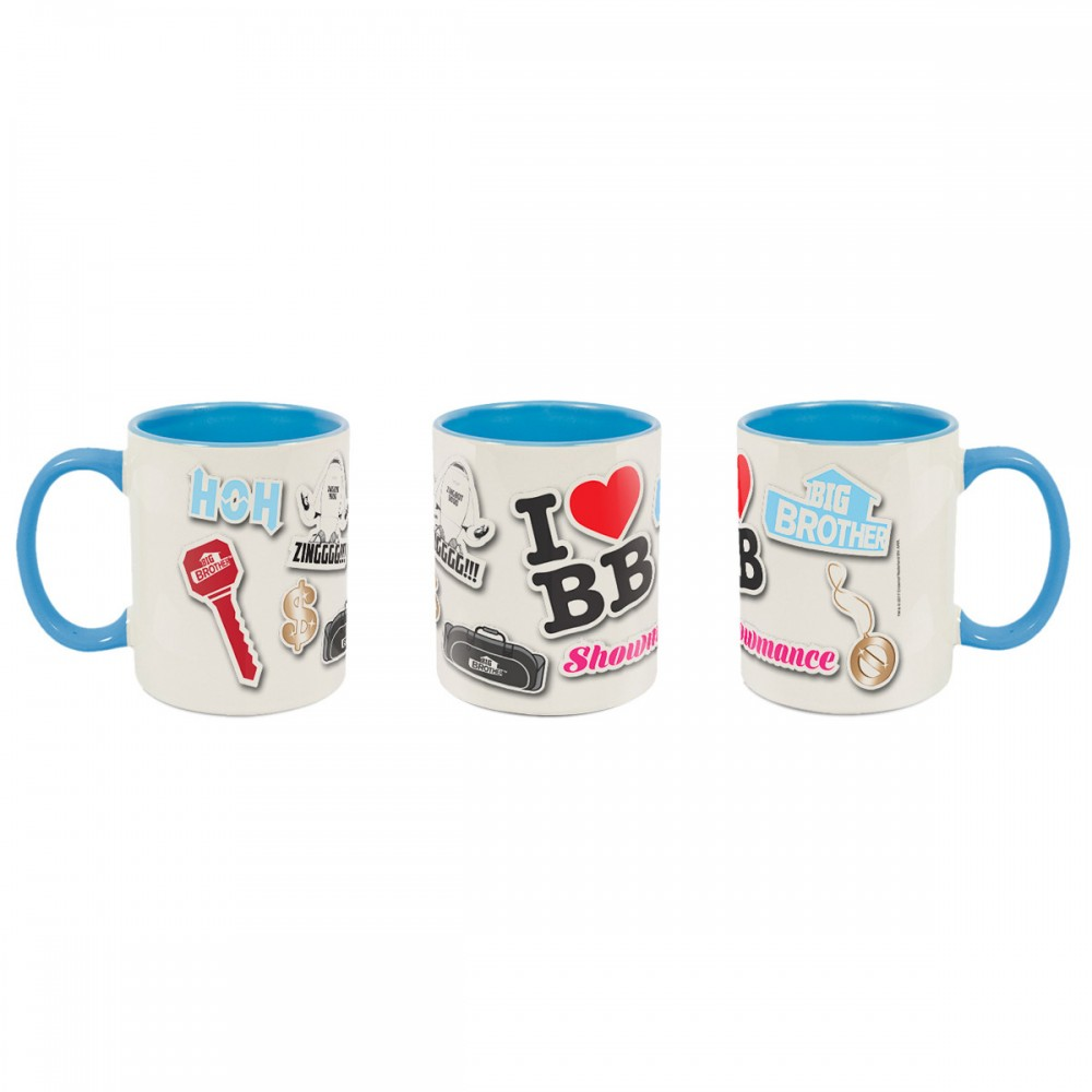 Big Brother Pop Stickers Deco Mug Blue Image