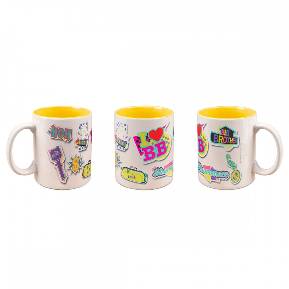 Big Brother Pop Stickers Deco Mug Yellow Image